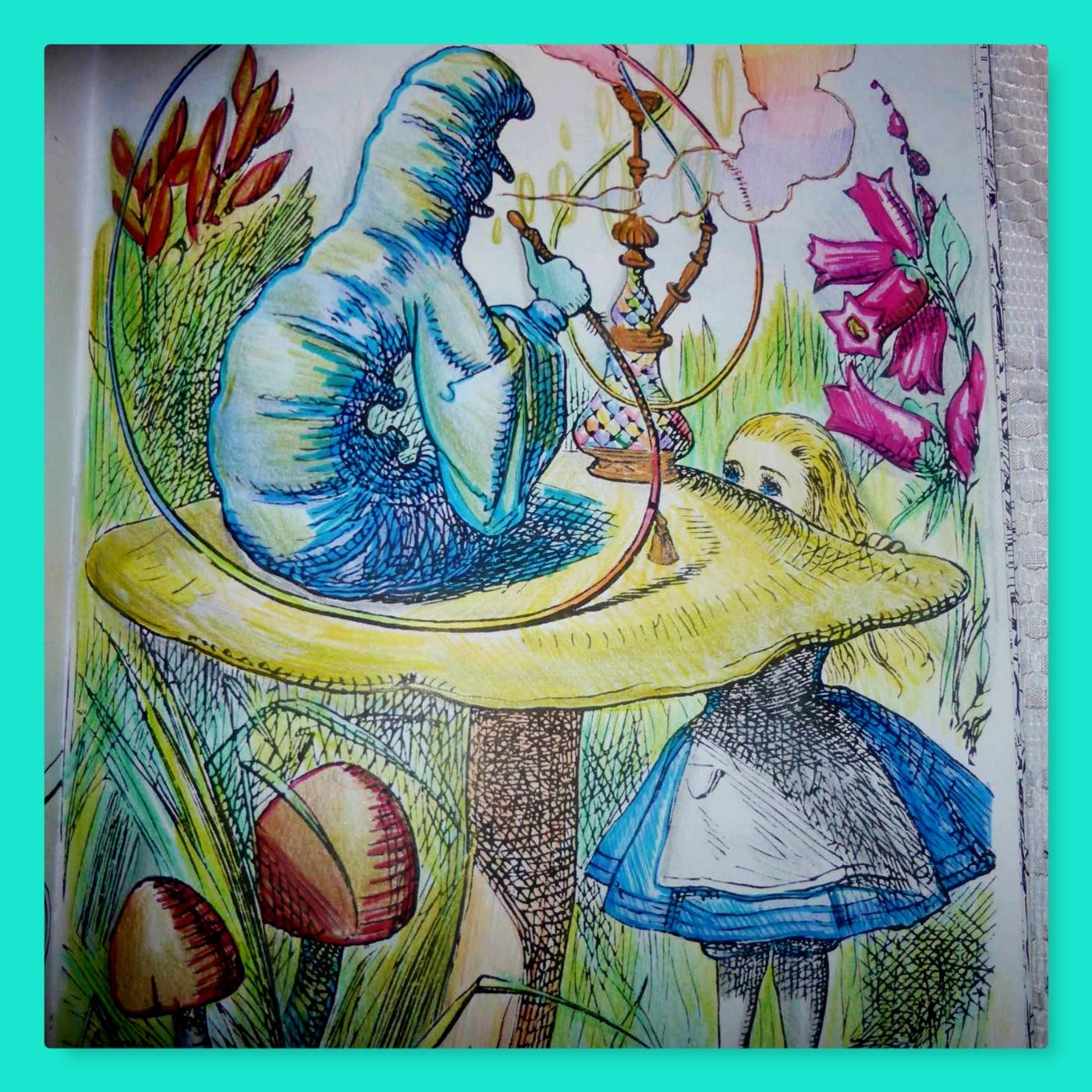 alice and caterpillar