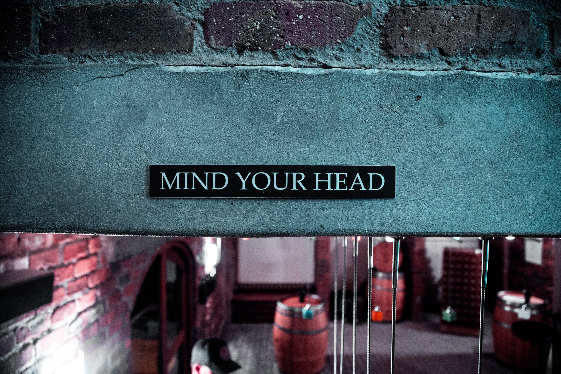mind your head signage