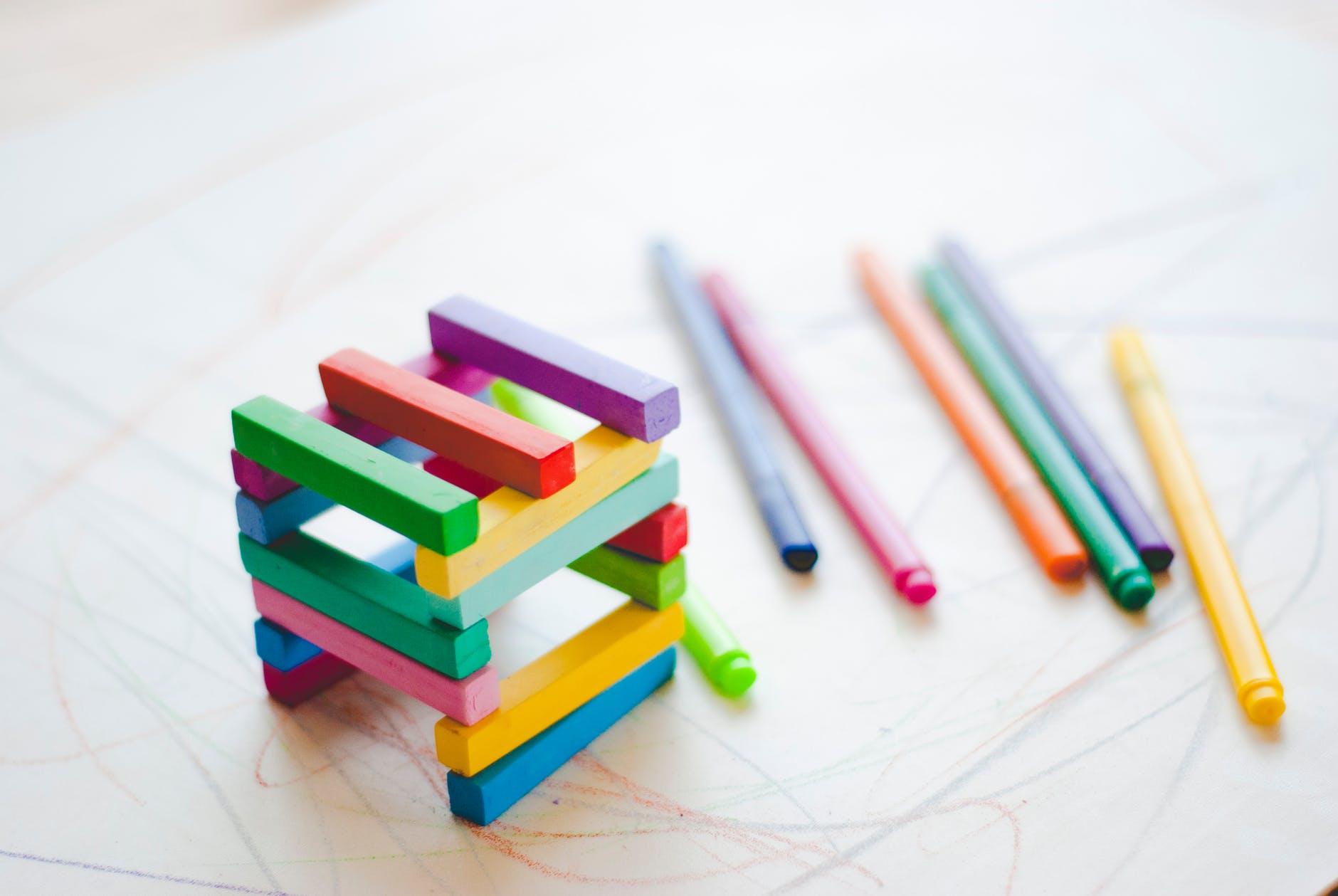 multi colored pen