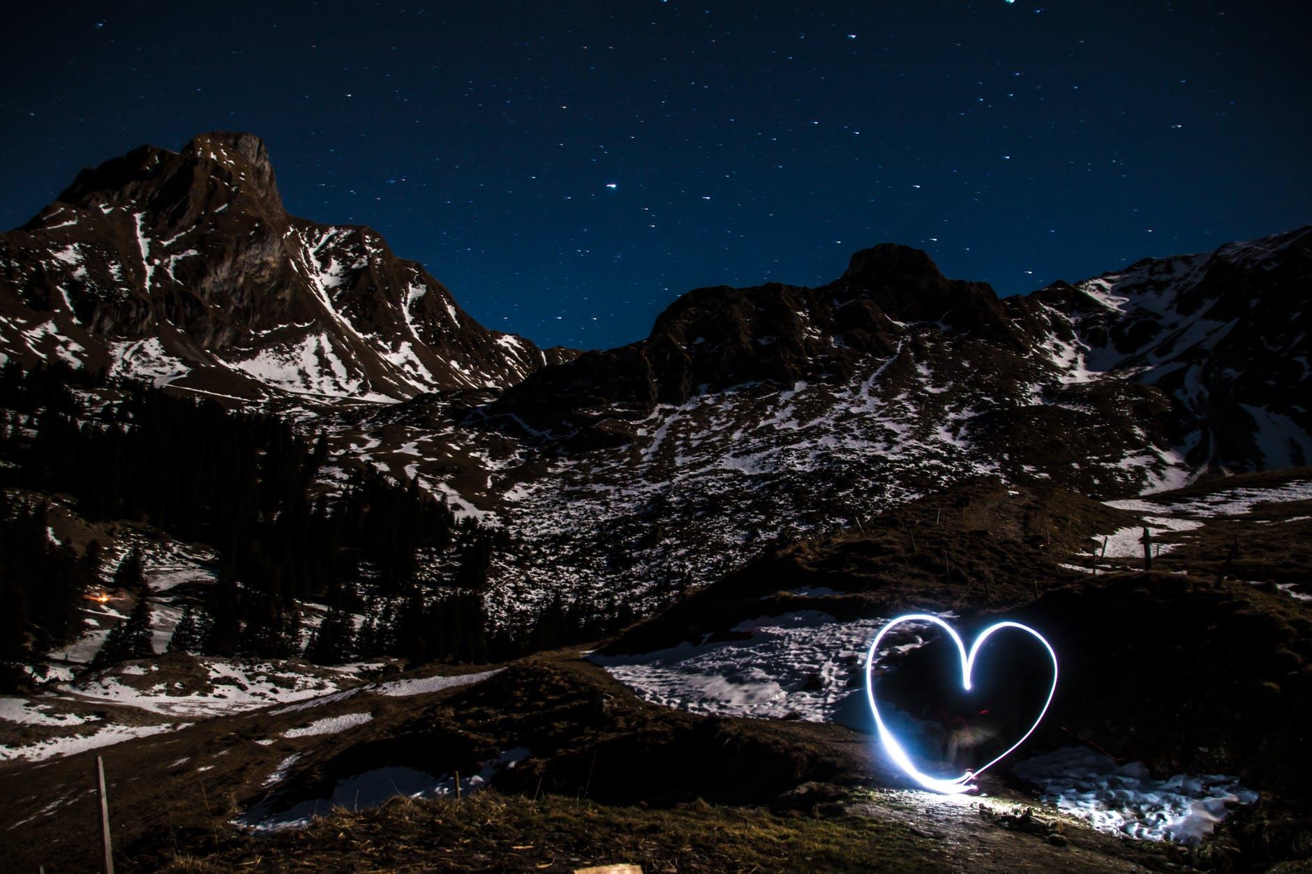 cold landscape light long exposure