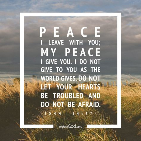 Peace I give